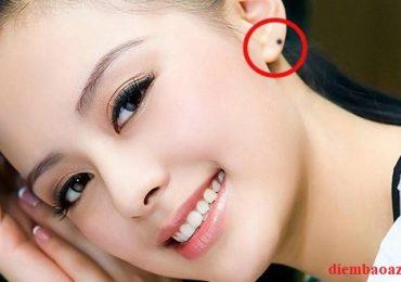 Nốt ruồi ở vành tai trái – phải phụ nữ là Đại Phú Quý nếu đúng chỗ này