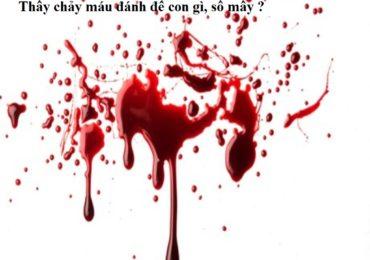 Thấy chảy máu đánh đề con gì, số mấy?